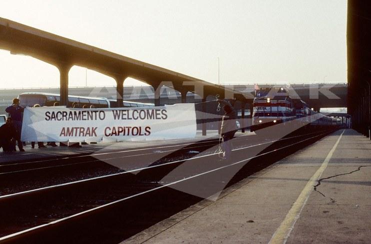 <i>Capitol Corridor</i> Welcomed to Sacramento.