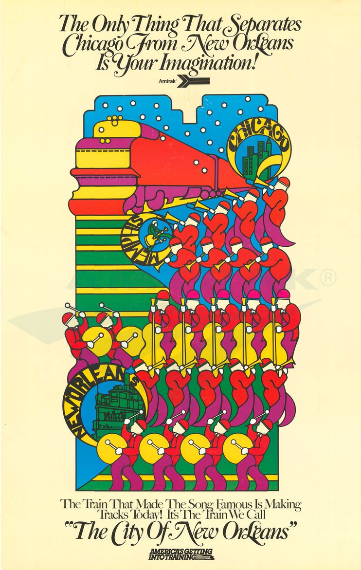 <i>City of New Orleans</i> poster, 1980s.