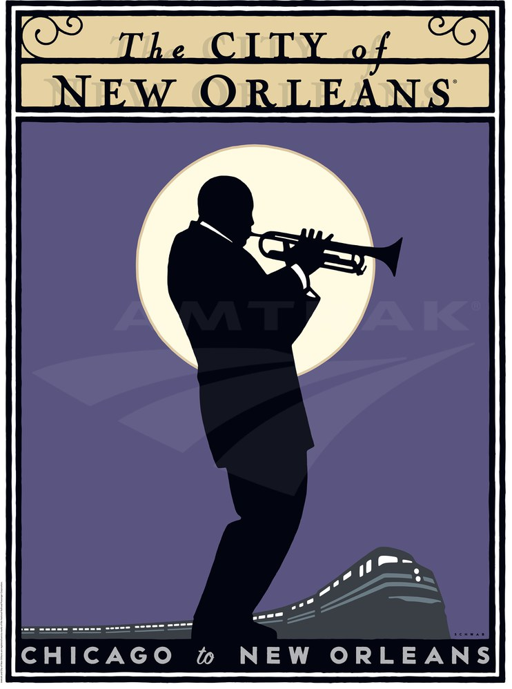 City Of New Orleans Poster 2000s Amtrak History Of