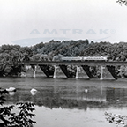 <i>Connecticut Valley Service</i> train crossing the Connecticut River, 1980s.