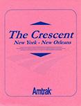 <i>Crescent</i> menu, 1980s.