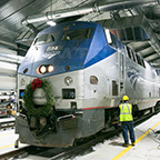 <i>Downeaster</i> trainsets being serviced, 2016.