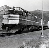 <i>Empire Builder</i> at West Glacier, 1980s.