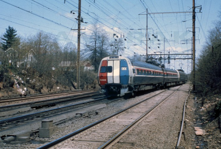 <i>Metroliner</i> on the Northeast Corridor, 1979.