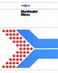 <i>Montrealer</i> menu, 1980s.