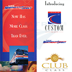 <i>NortheastDirect</i> Custom/Club Class service brochure, 1990s.