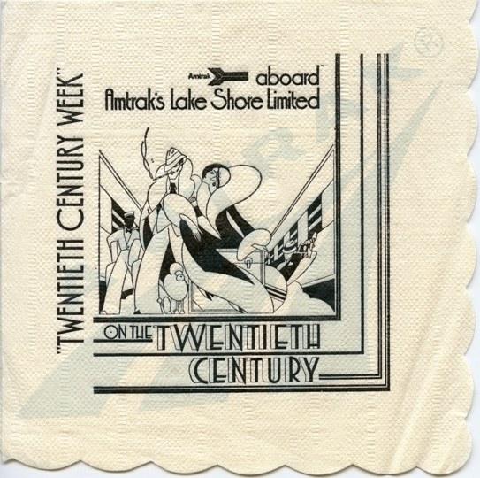 <i>On the Twentieth Century</i> napkin, 1978.