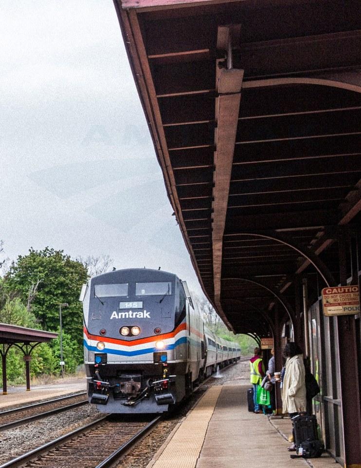 <i>Pennsylvanian</i> pulling into Greensburg, 2016.