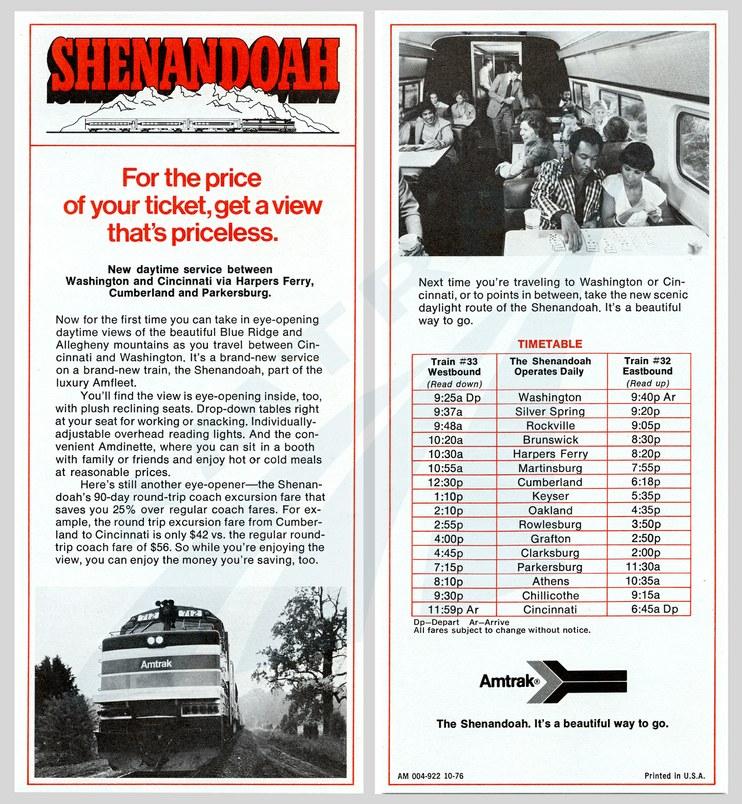 <i>Shenandoah</i> flyer, 1976.