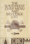 <i>Southwest Chief</i> menu and beverage list, 1985.