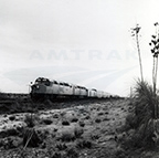 <i>Sunset Limited</i> in the New Mexico desert, 1970s.
