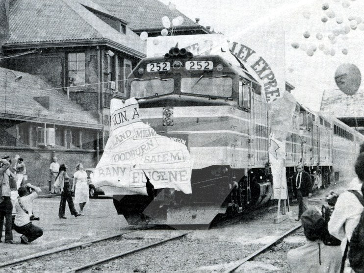 <i>Willamette Valley Express</i> inaugural, 1980.