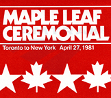 Inaugural <i>Maple Leaf</i> ticket, 1981.