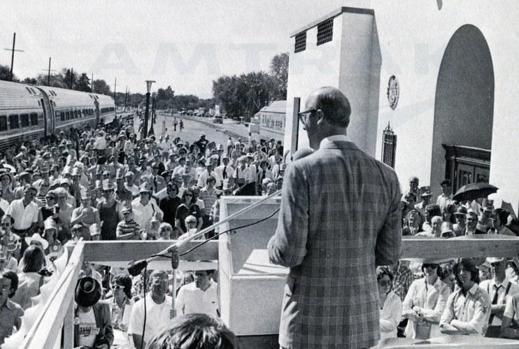 Inaugural <i>Pioneer</i> at Boise, Idaho, 1977.