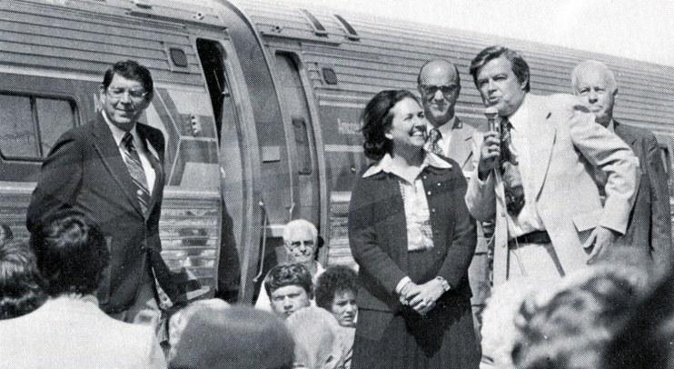 Inaugural <i>Pioneer</i> at Shoshone, Idaho, 1977.