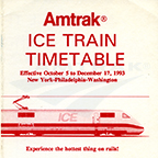 Intercity Express train timetable, 1993.