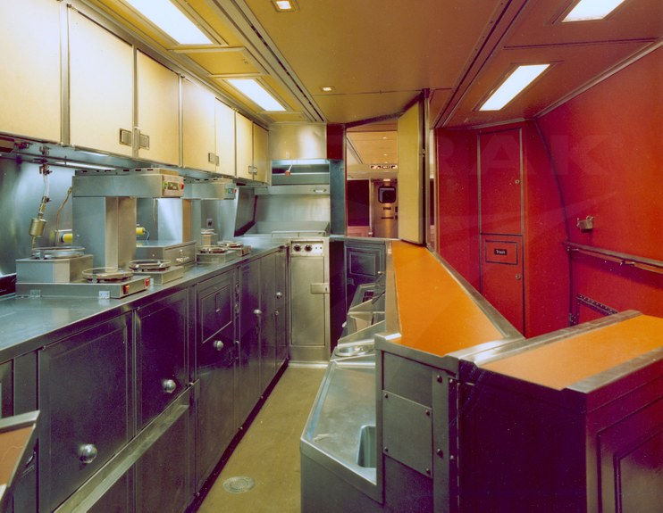 Amfleet Ii Food Service Car Interior 1980s Amtrak History Of