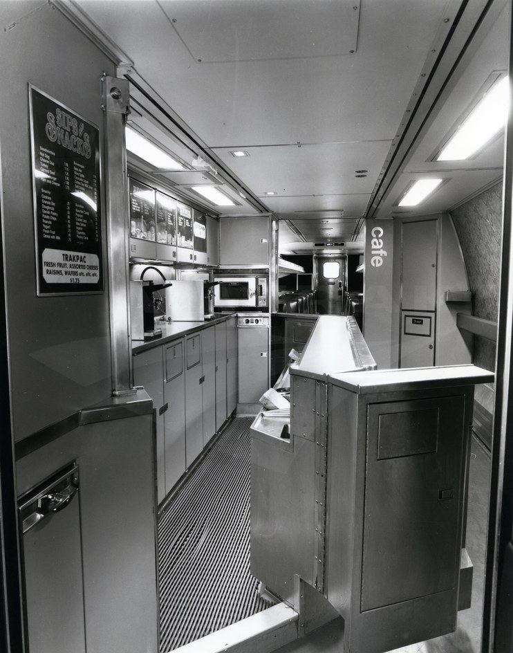 Interior Of Amfleet Cafe Car No 20009 1981 Amtrak History Of