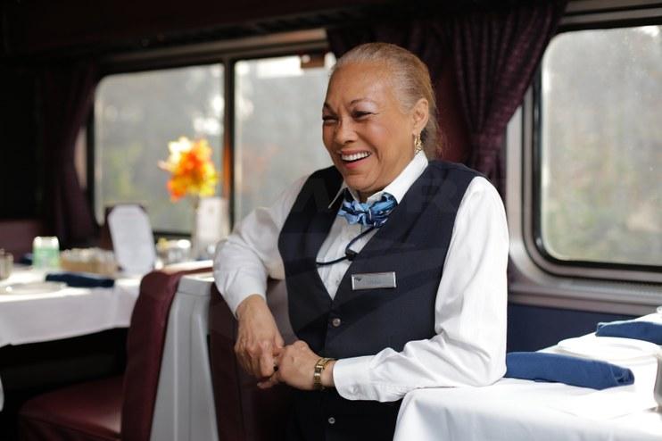 Lead service attendant on the <i>Auto Train</i>, 2016.