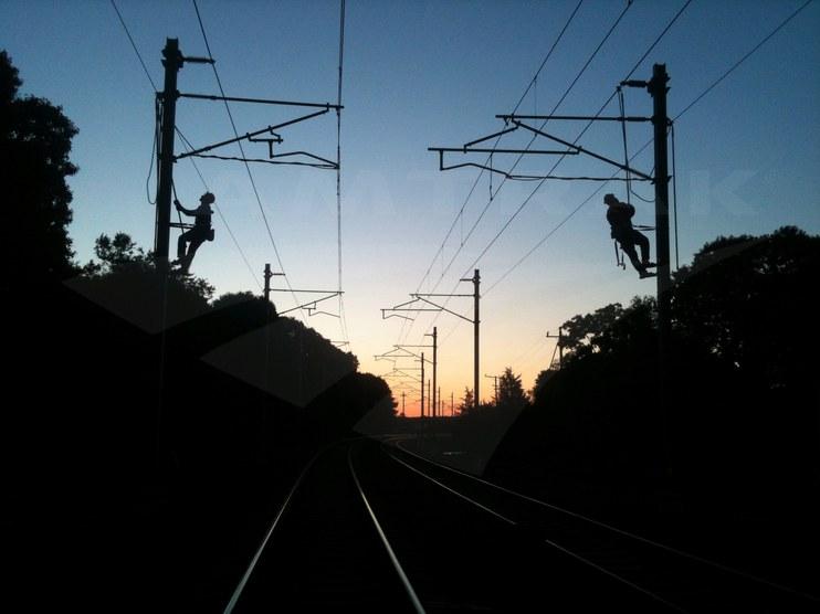 Linemen on the Northeast Corridor