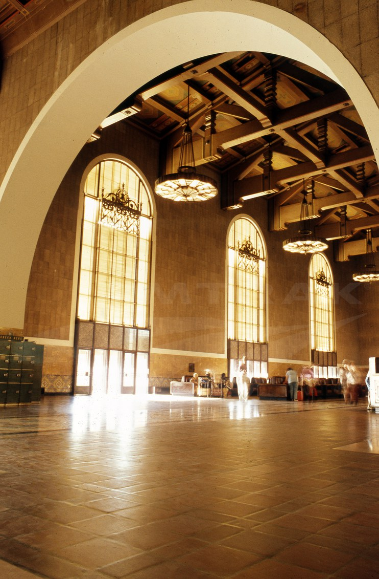 Los Angeles Union Station waiting room, 1970s.