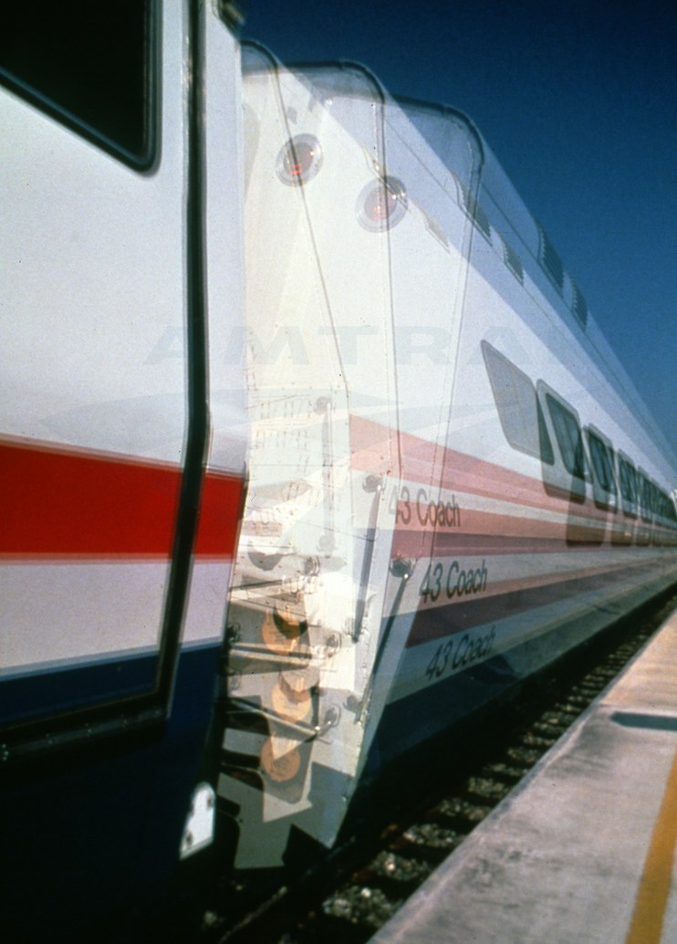 LRC train showing the tilt functionality, 1980s.