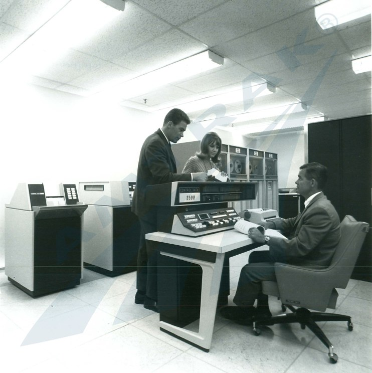 Main Amtrak computer center, 1975.