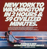 <i>Metroliner Service</i> advertisement, 1980s.