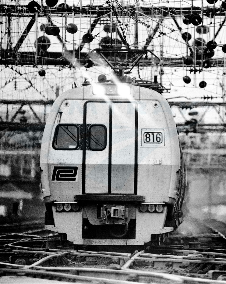 <i>Metroliner Service</i> train at Washington Union Station, early 1970s.