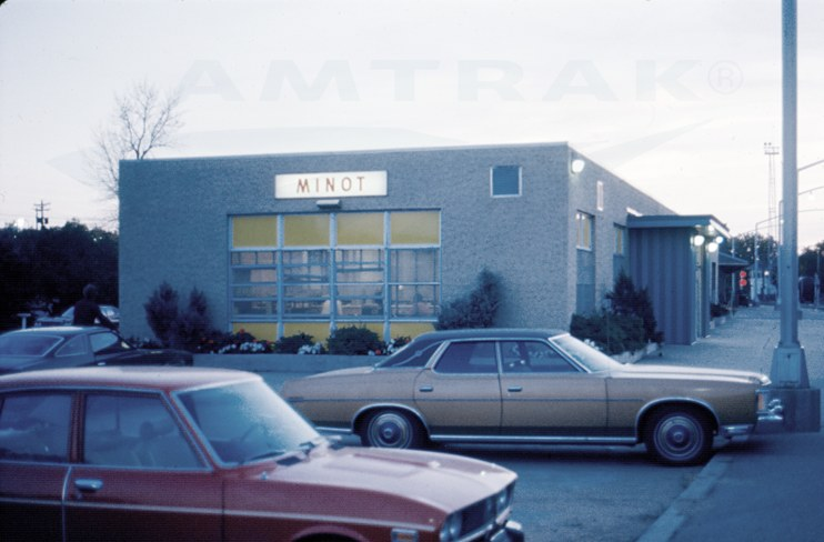 Minot, N.D., station, 1974.