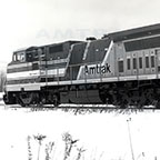 P-32-8 locomotive No. 501 in the snow, 1990s.