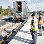 Positioning the <i>Auto Train</i> at Sanford, Fla., 2016.