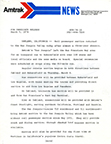 Press release announcing the launch of the <i>San Joaquin</i>, 1974.