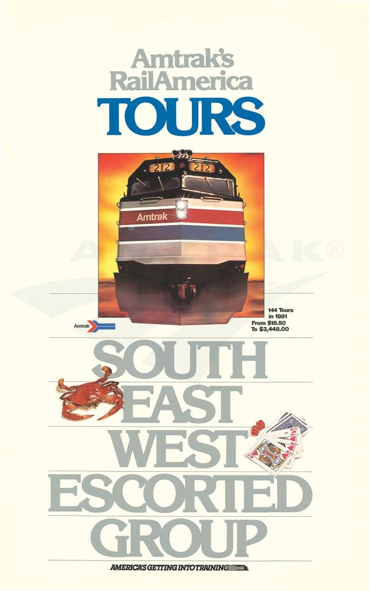 """RailAmerica Tours"" poster, 1981."