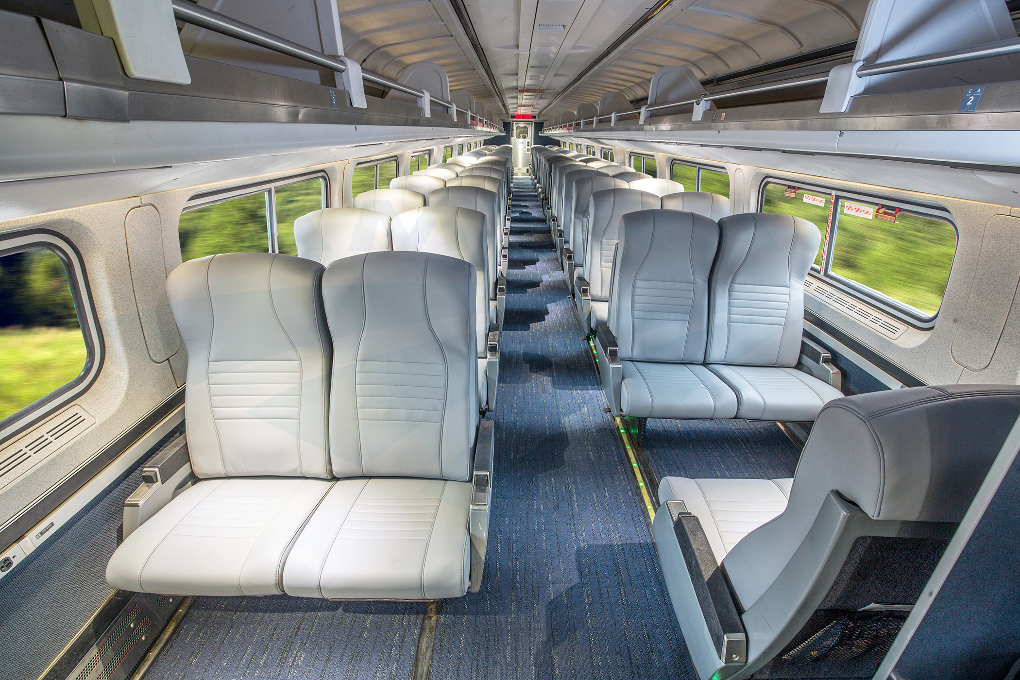 Refreshed Amfleet I Coach Class Car Interior 2017