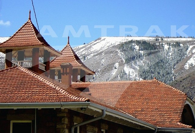 Roofline of the Glenwood Springs, Colo. station, 2011.
