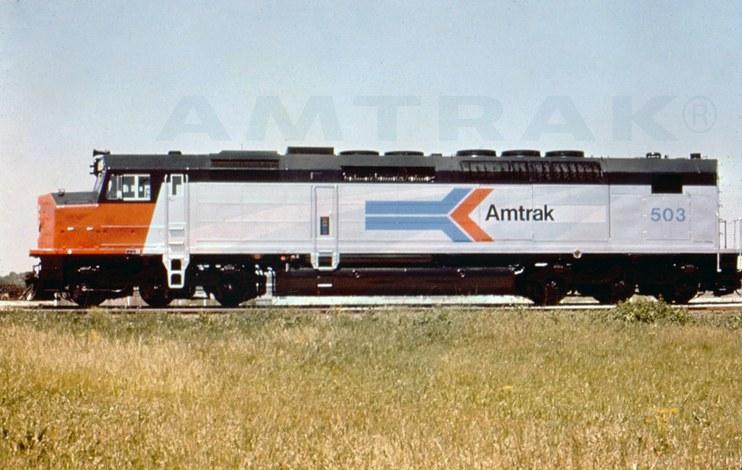 SDP40F locomotive No. 503, 1970s.