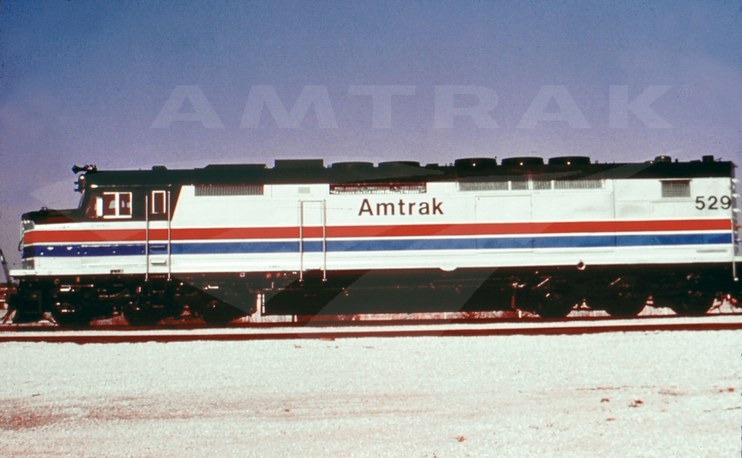 Sdp40f Locomotive No 529 1970s Amtrak History Of