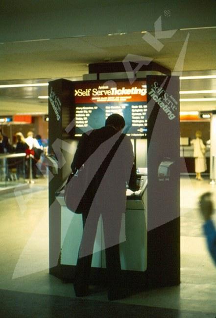 Self Serve Ticketing kiosk, late 1980s.