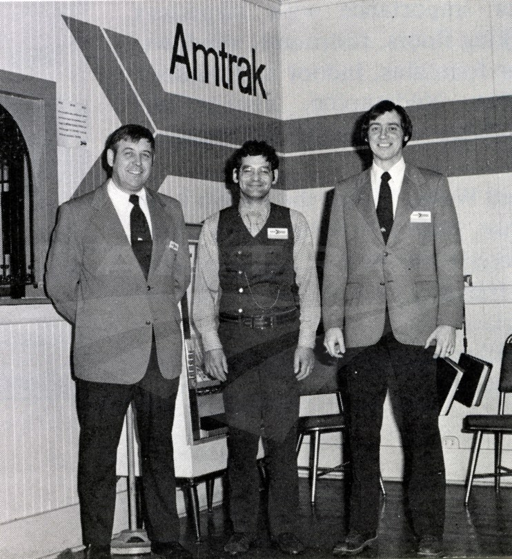 St. Albans, Vt. station staff, 1976.