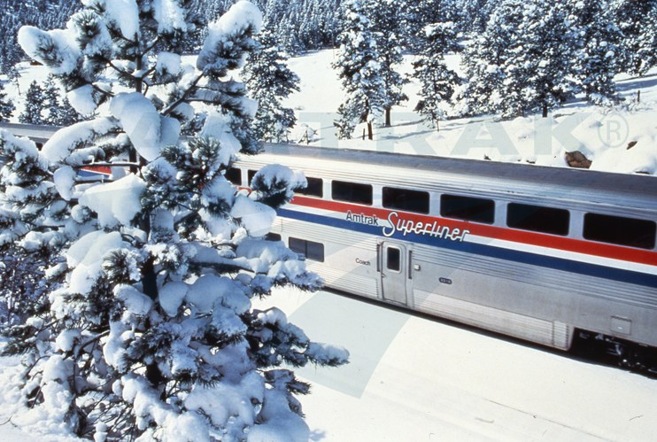 Superliner coach car close-up, 1980s.