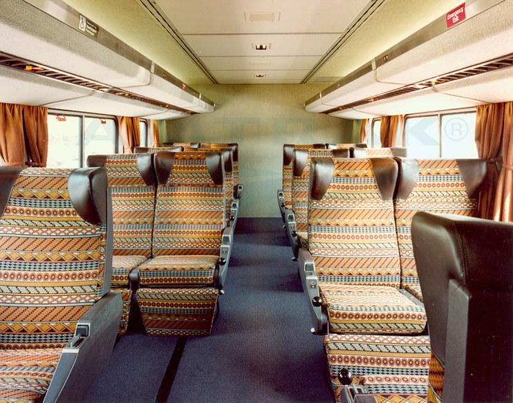 Superliner I Lower Level Coach Seating 1980s Amtrak