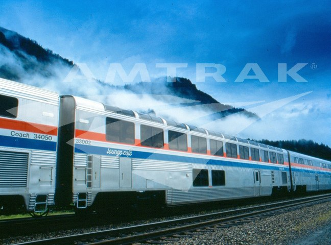 Superliner Lounge Cafe Car Amtrak History Of America S