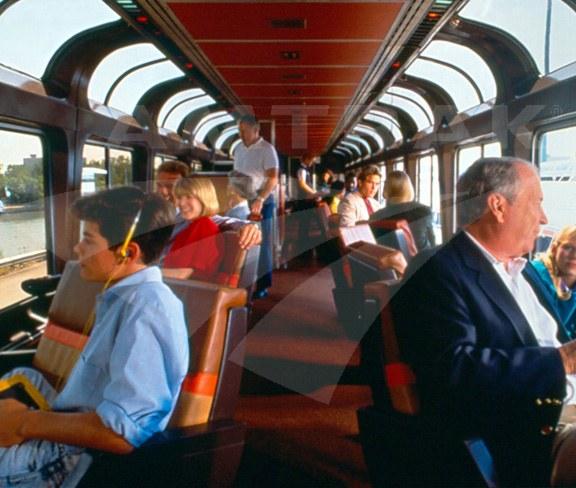 Superliner Sightseer Lounge Interior