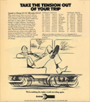 """Take the Tension Out of Your Trip"" advertisement, 1972."