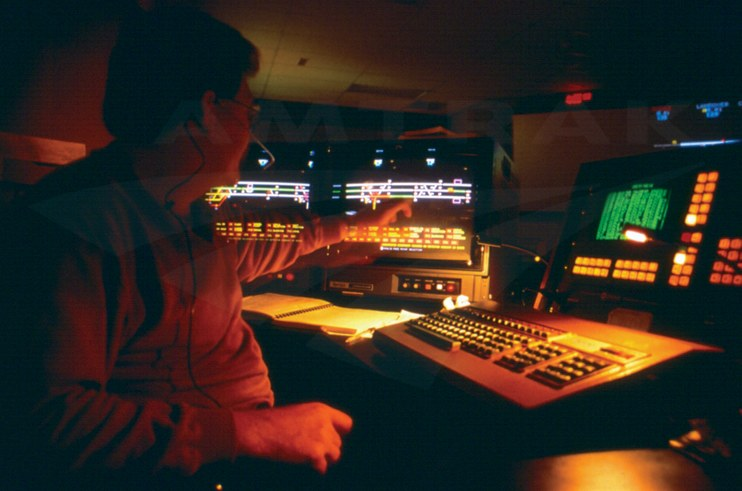 Train dispatcher using CETC, 1988.