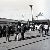 Train at the Brunswick, Md. station, 1970s.