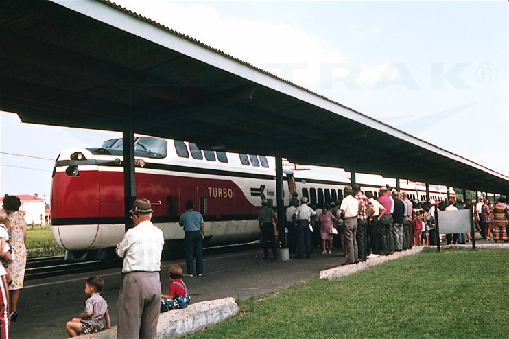 TurboTrain at Petersburg, Va., 1971.