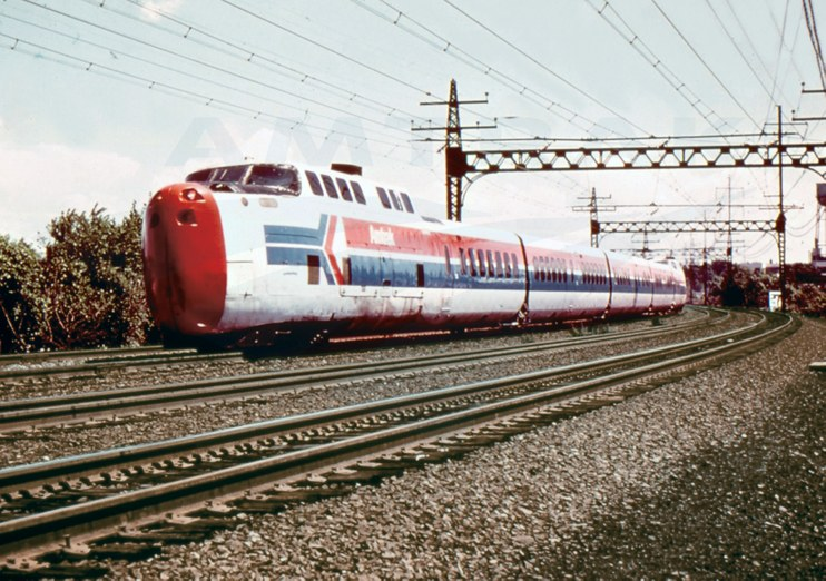 TurboTrain in Amtrak livery, 1970s.