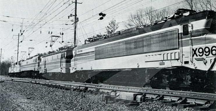 Locomotives on the Northeast Corridor, 1977.